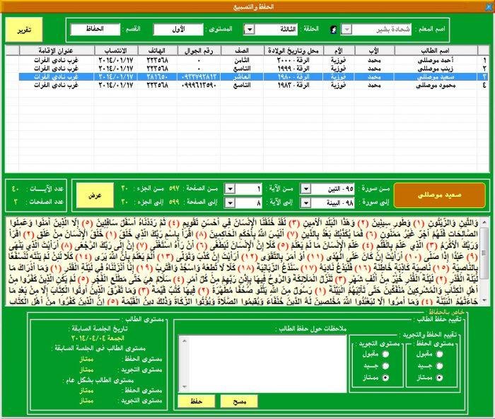 ابن الجزري لتنظيم الحلقات القرآنية